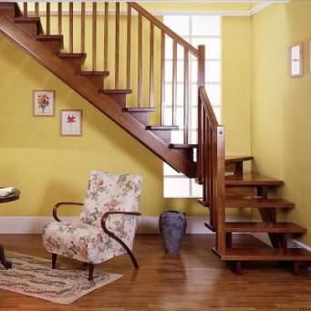 康輝 美國紅橡櫸木橡膠木折疊梯 康輝 樓梯 東南亞木橡膠木簡約系列樓梯