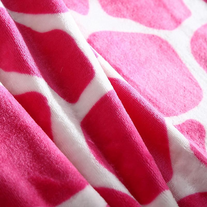 丝梦臣-珊瑚绒毯一等品冬季植物花卉毛毯