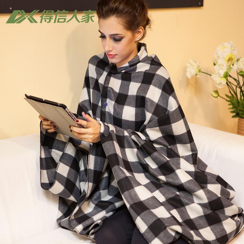 灰色格子毛巾毯春秋条纹简约现代毛毯