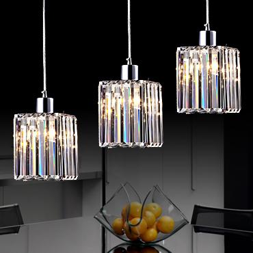 爱迪胜水晶不锈钢简约现代电镀吊灯