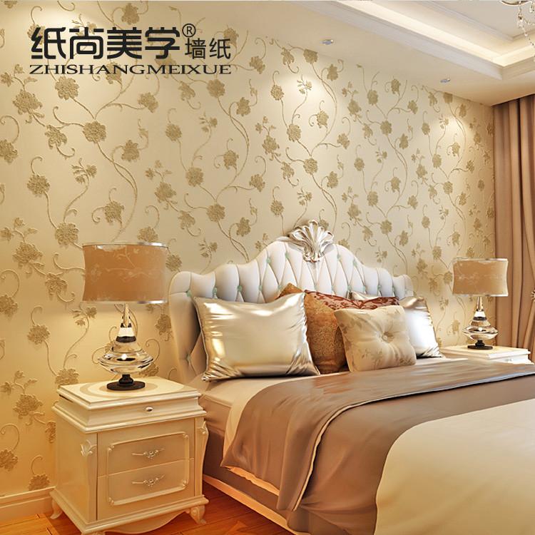 纸尚美学 浮雕有图案卧室欧式 AE46503墙纸