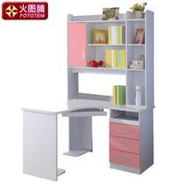 哑光书架密度板/纤维板框架结构多功能儿童简约现代 转角书台5系学习桌