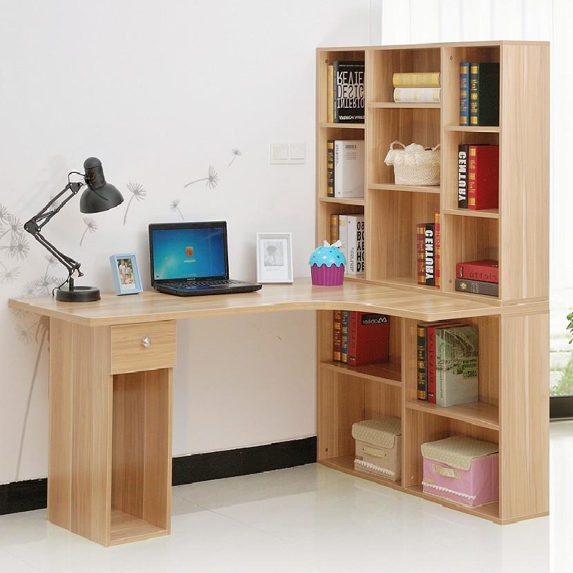 莉云居 散装电脑桌书架刨花板/三聚氰胺板多功能转角简约现代 书桌