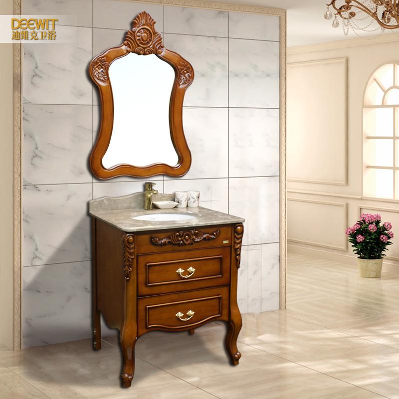 迪维克橡木大理石台面欧式-浴室柜