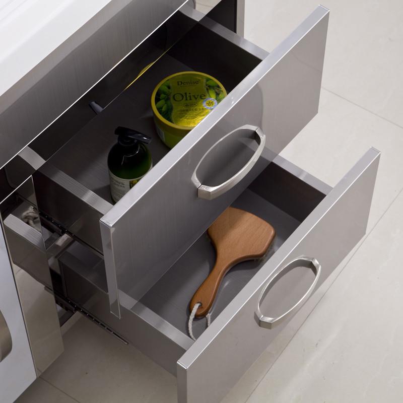 欧德宝不锈钢含带配套面盆石英石台面简约现代-浴室柜
