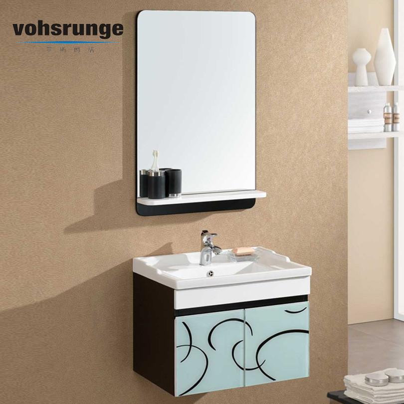 菲斯朗格橡木一体陶瓷盆-浴室柜