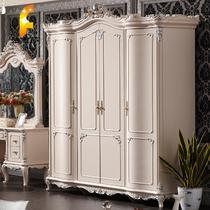 欧式四门衣柜橡木储藏平拉门艺术成人 衣柜