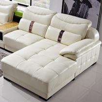 接触面真皮L形木质工艺桦木多功能海绵简约现代 沙发