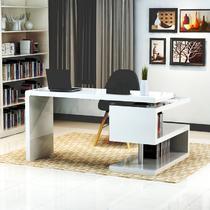 人造板电脑桌密度板/纤维板旋转转角简约现代 书桌