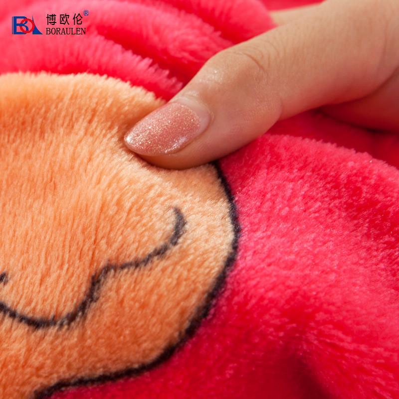博欧伦 BORAULEN 2%-3%珊瑚绒毯一等品冬季纯色简约现代 91116110105毛毯