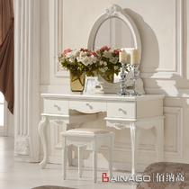 组装烤漆框架结构橡胶木储藏植物花卉成人欧式 GMFZ9803梳妆台