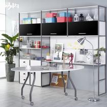 金属活动镜面钢人造板支架结构多功能成人简约现代 书柜
