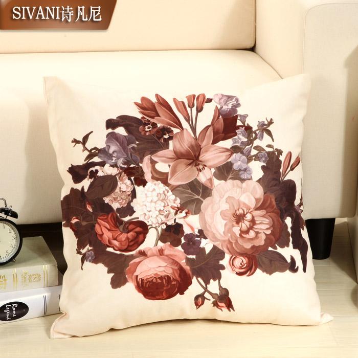 诗凡尼布-靠垫棉植物花卉欧式靠垫