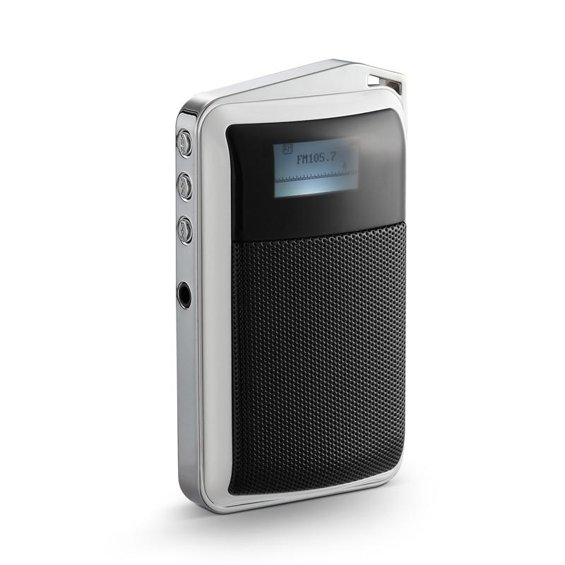 雅兰仕红色塑料有源收音接口按键≥声道寸中文显示屏供电收音机