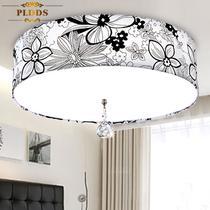 布水晶欧式电动冲孔圆形节能灯LED 吸顶灯