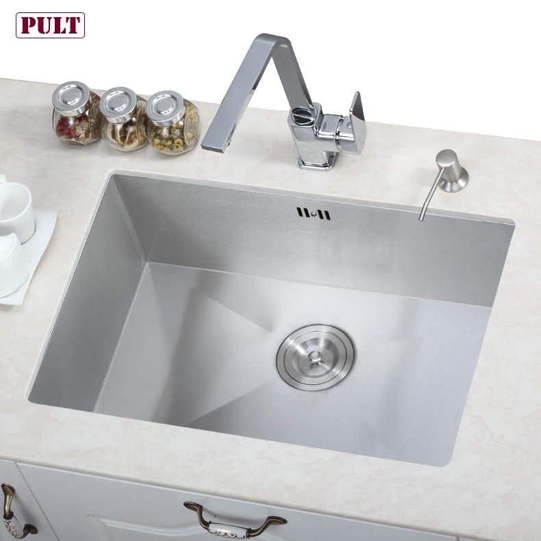 PULT 不锈钢 直角水槽单槽水槽