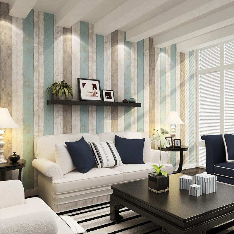 本木 印花有图案客厅卧室婚房地中海 墙纸