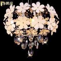铁水晶简约现代镀铬白炽灯节能灯LED 2067-9吊灯