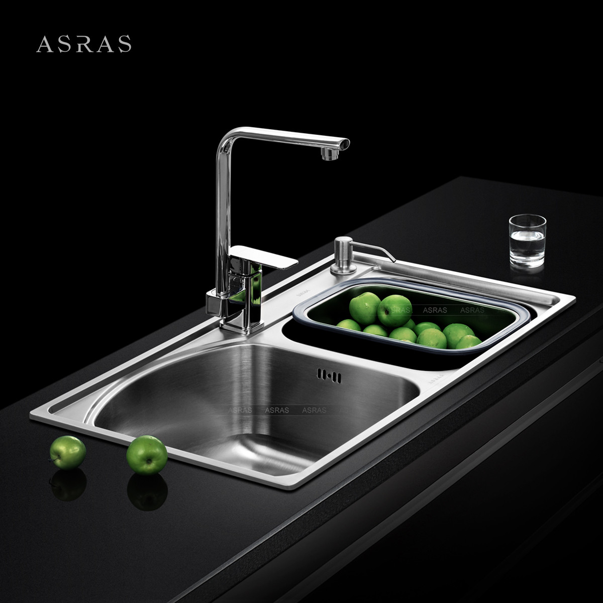 asras 不锈钢 7540水槽