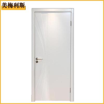 美梅利斯纯天然实木贴面烤漆门平开门式门