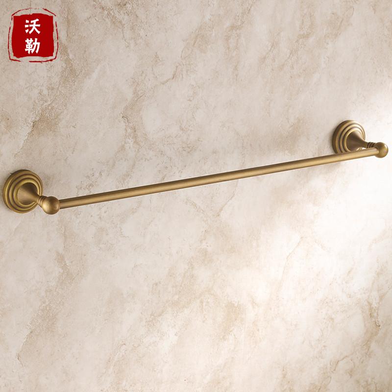 沃勒铜质铜色单层置物架毛巾架