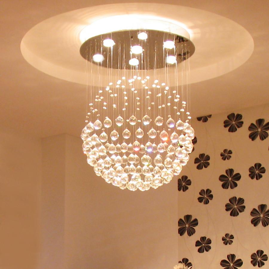 三炫 不锈钢水晶简约现代拉丝垂吊卤钨灯 9003吊灯