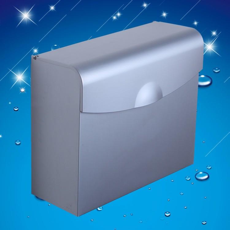 铝合金上开盖式叠状方纸置物架纸巾架