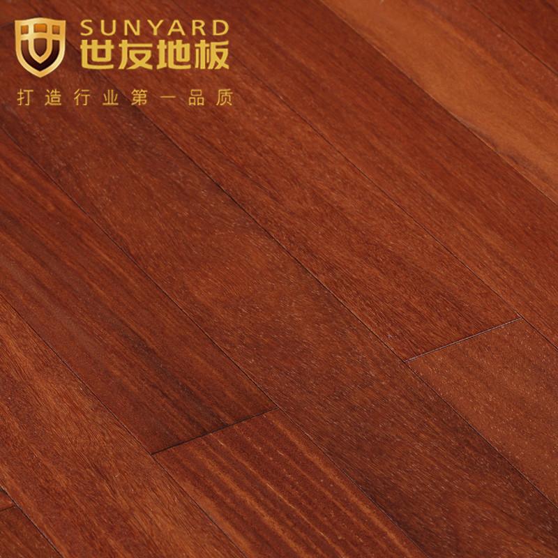 世友地板裸板价(预售)香二翅木钢琴烤漆地板