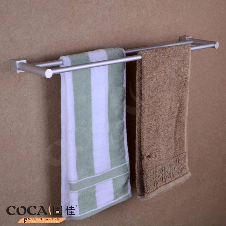 固佳太空铝双层置物架毛巾架