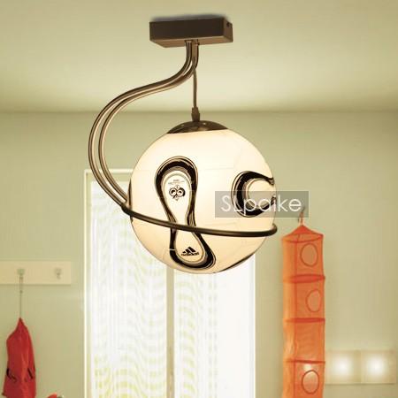 塞拉派克玻璃铁简约现代白炽灯节能灯吊灯