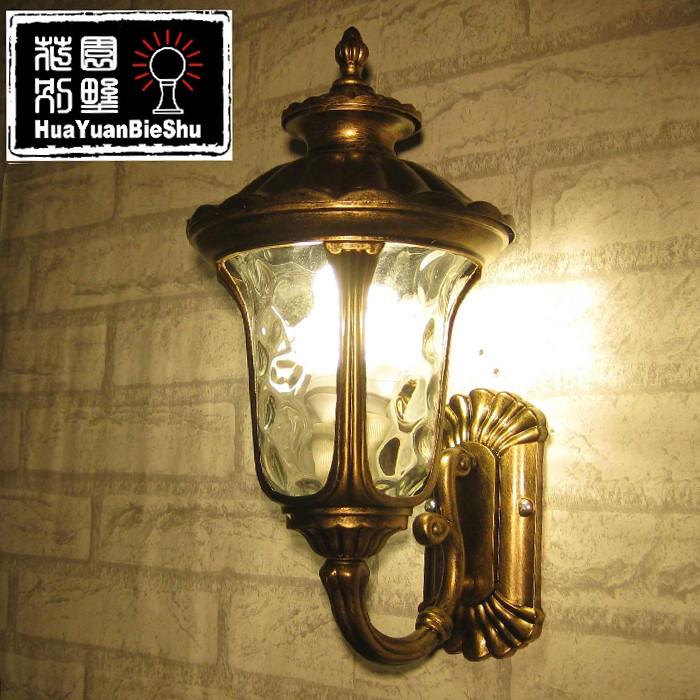 花园别墅 玻璃铝欧式镀铬节能灯LED 壁灯