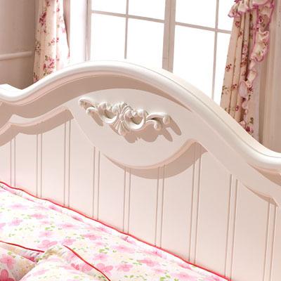 香娜莉田园床加高箱田园床橡木支架结构雕刻床