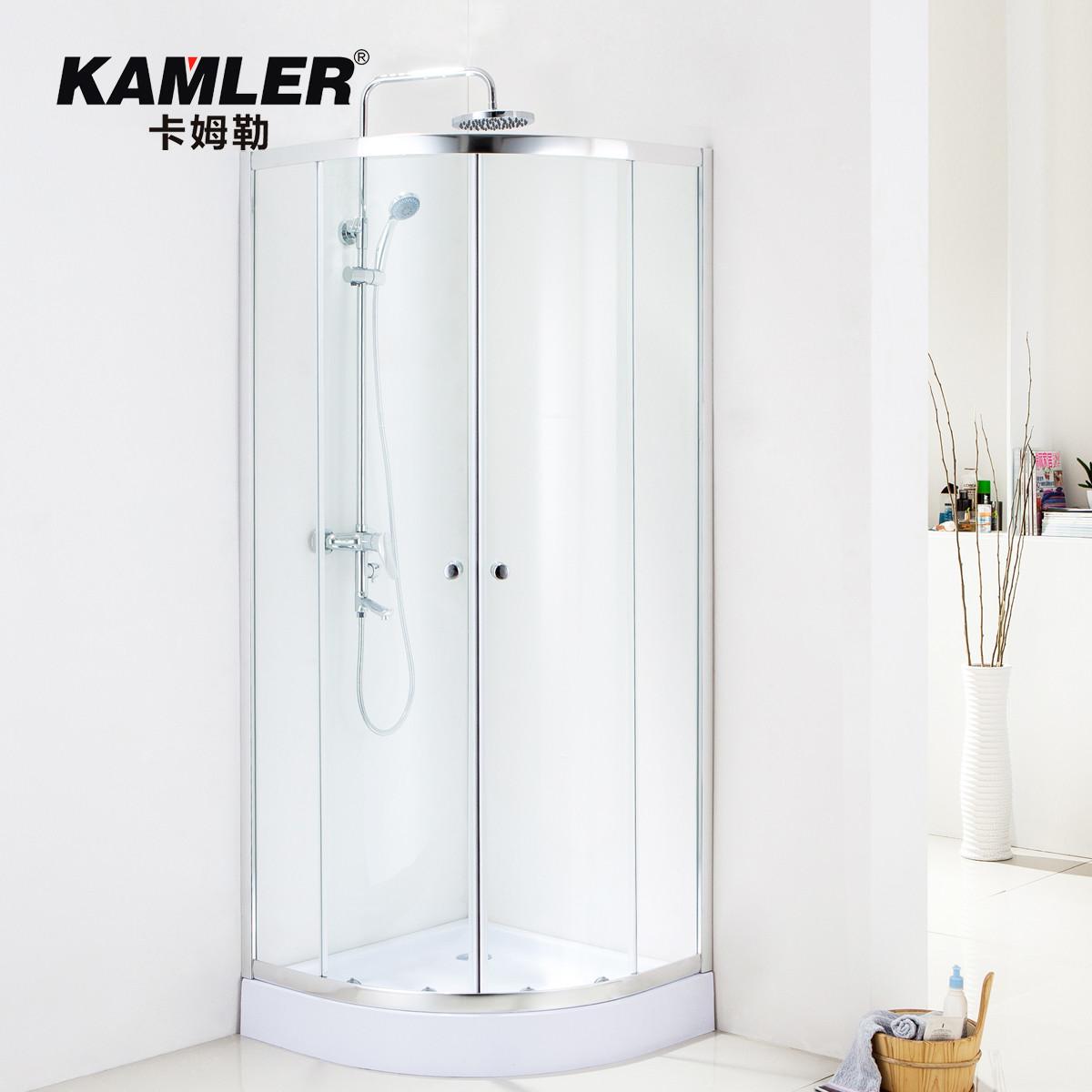 卡姆勒移门式弧扇型淋浴房