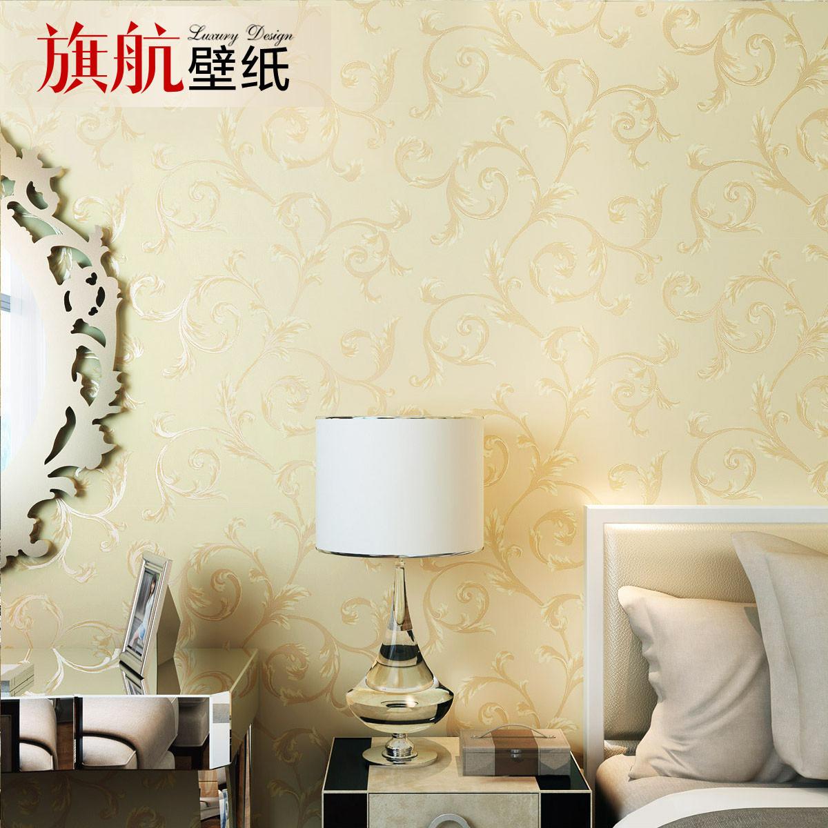 旗航壁纸 压花有图案客厅卧室婚房欧式 墙纸