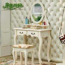 组装密度板/纤维板烤漆框架结构储藏抽象图案成人韩式 梳妆台