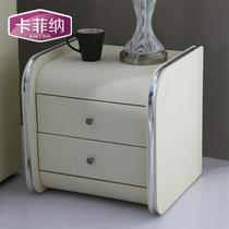 人造板密度板/纤维板皮革软体结构推拉成人简约现代 KD001床头柜