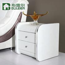 人造板密度板/纤维板皮革箱框结构推拉成人简约现代 床头柜