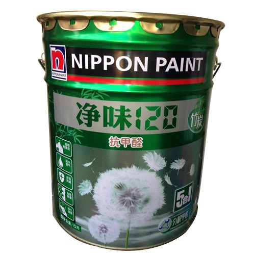 立邦漆 白色面漆啞光 正品立邦漆凈味120五合一內墻面漆油漆竹炭5合1白色涂料1涂料
