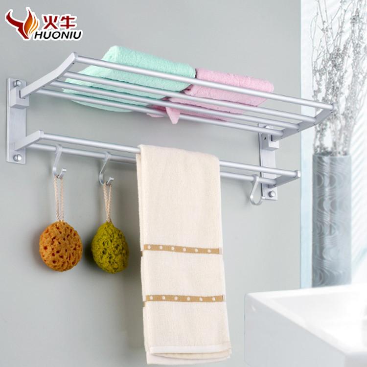 火牛 太空铝折叠活动型简约 置物架浴巾架