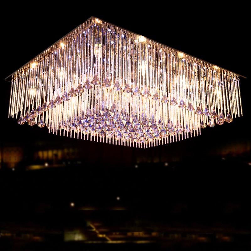 英利达简约现代电动冲孔长方形节能灯卤钨灯吸顶灯