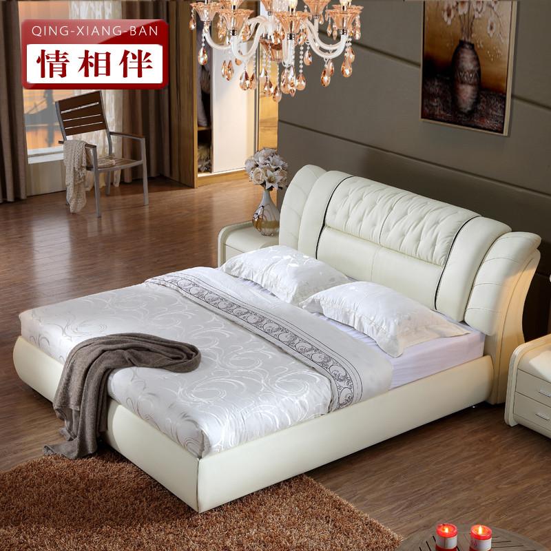 情相伴 木裂纹组装方形简约现代 床