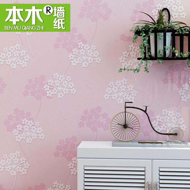 本木 印花有圖案韓式 墻紙