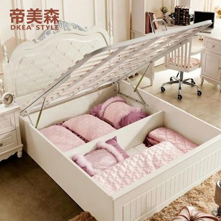 橡木框架结构欧式雕刻-床床