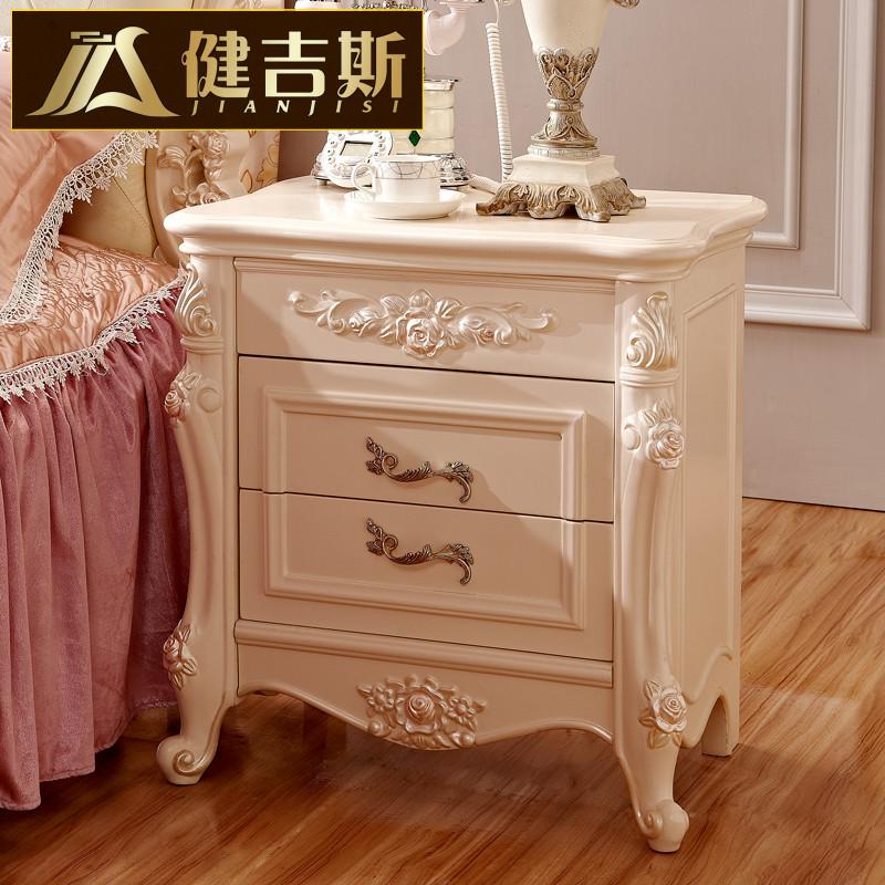 健吉斯图片色框架结构松木储藏植物花卉成人欧式床头柜