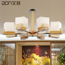 玻璃木简约现代雕刻白炽灯节能灯LED ADNYMJ2902吊灯