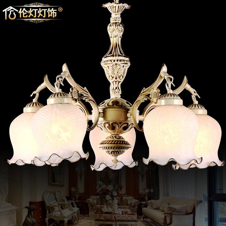倫燈燈飾 玻璃鋼鐵歐式噴漆磨砂白熾燈 吊燈
