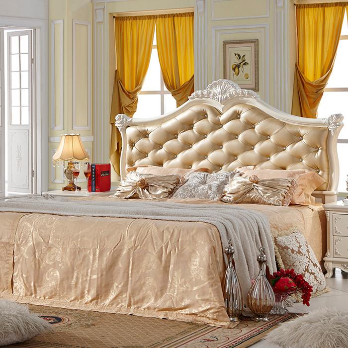 罗曼家园荷花白框架结构欧式床