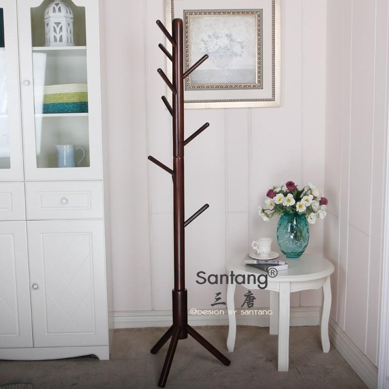 三唐 木质工艺支架结构桦木拆装成人简约现代 衣帽架