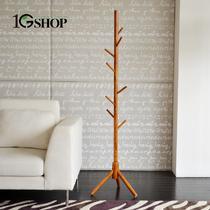 木质工艺车床支架结构白蜡木悬挂植物花卉成人简约现代 衣帽架