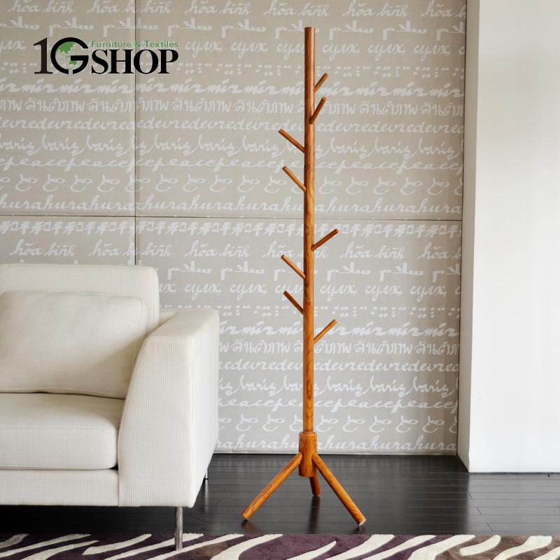 1GSHOP 木質工藝車床支架結構白蠟木懸掛植物花卉成人簡約現代 衣帽架